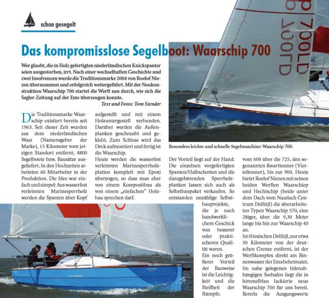 700LD door Segler Zeitung getest