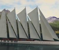 's Werelds langste zeilschip - de Dream Symphony - wordt gebouwd in hout.