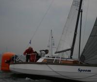 Waarschip 1/4 één en twee  bij Pampus regatta