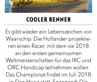 """W 36 """"Cooler Renner"""" in het Duitse blad Yacht"""