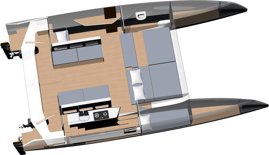 Waarschip Raku 34 Catamaran